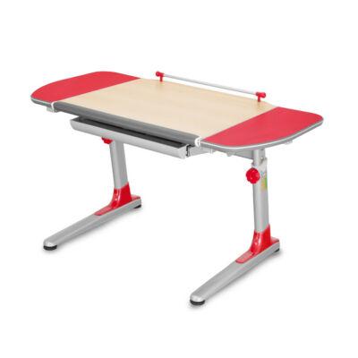 Profi 3 32P311 juhar ergonomikus állítható gyerekasztal, gyerekíróasztal, piros kiegészítőkkel