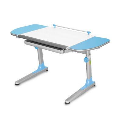 Profi 3 32W317 fehér ergonomikus állítható gyerekasztal, gyerekíróasztal, kék kiegészítőkkel