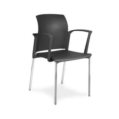 CLASS 25C1 01, P01 szék króm lábbal, karfával